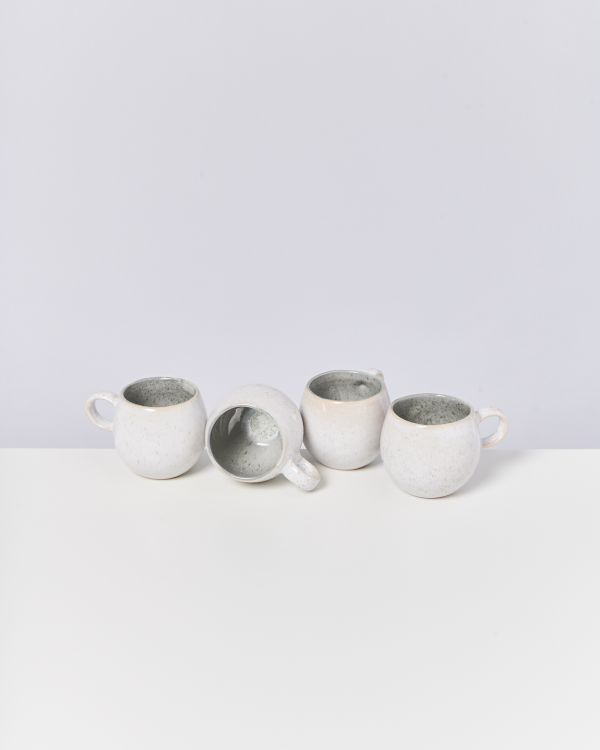 AREIA - Set of 4 Cups small grey