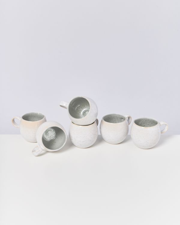 AREIA - Set of 6 Cups small grey