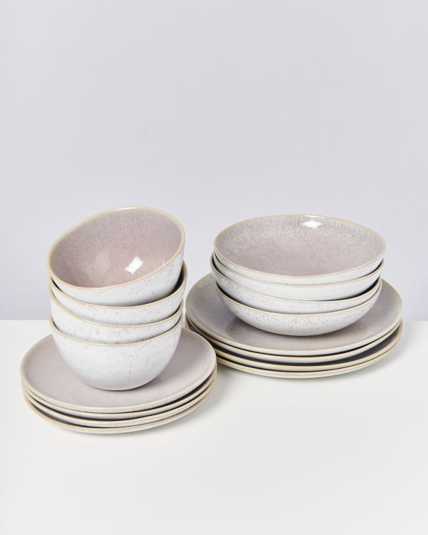 AREIA mauve - Set of 16 pieces