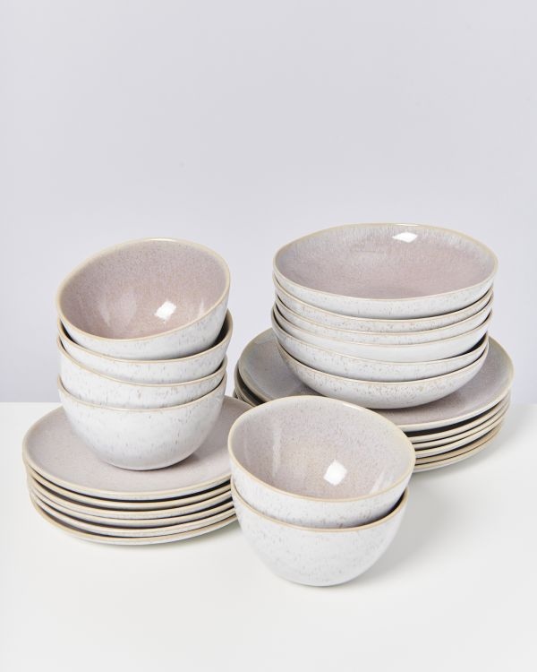 AREIA mauve - Set of 24 pieces