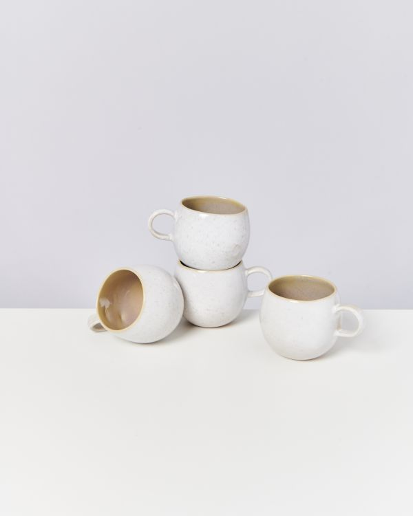 AREIA - Set of 4 Cups big mauve