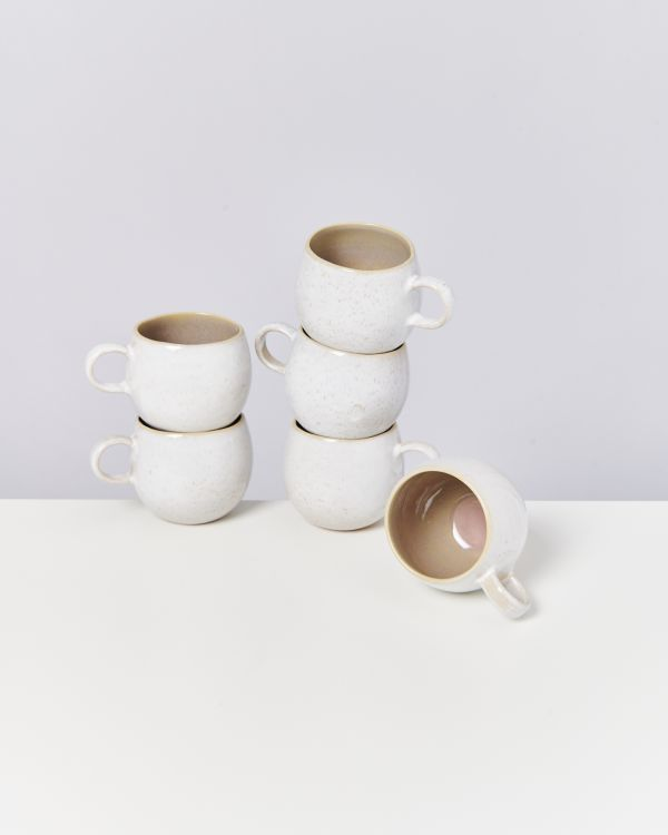 AREIA - Set of 6 Cups big mauve