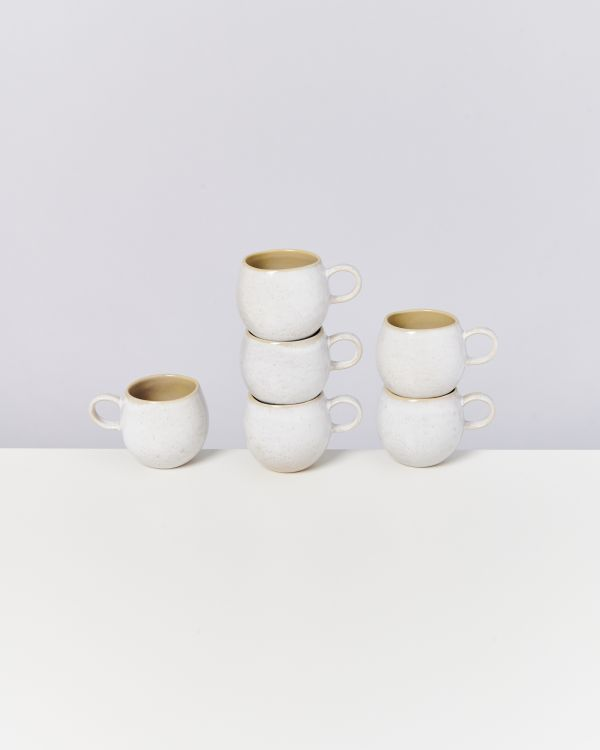 AREIA - Set of 6 Cups small mauve