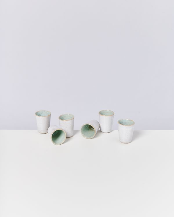 AREIA - Set of 6 Espressocups mint