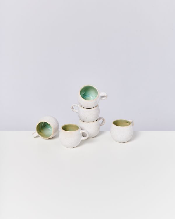 AREIA - Set of 6 Espressomugs mint