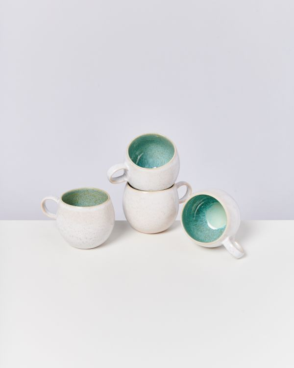 AREIA - Set of 4 Mugs big mint