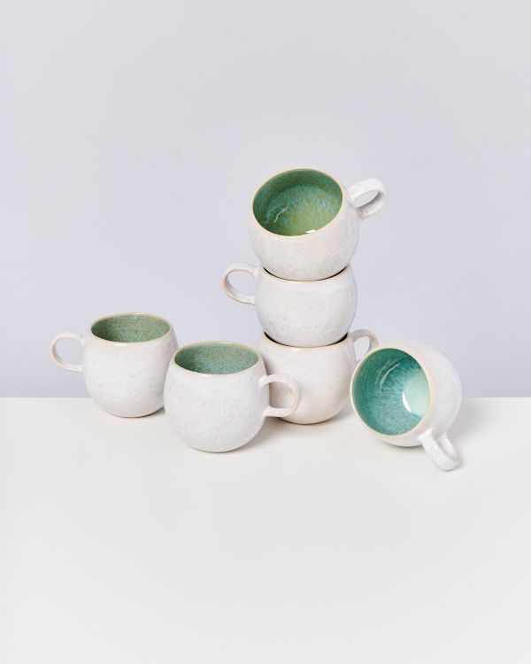 AREIA - Set of 6 Mugs big mint