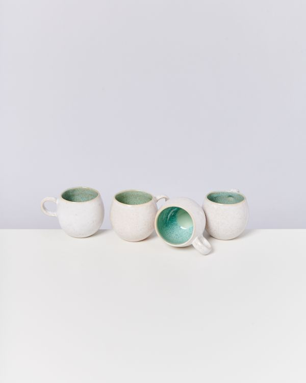 AREIA - Set of 4 Cups small mint