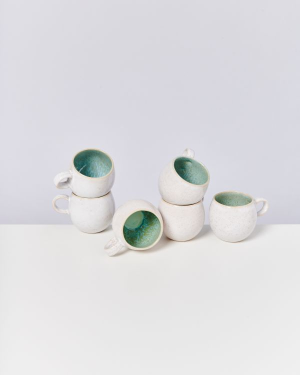 AREIA - Set of 6 Cups small mint