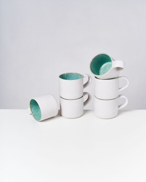AREIA - Set of 6 Cups Nódoa mint