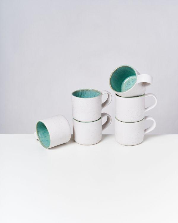 Areia Nódoa 6er Set Tasse mint