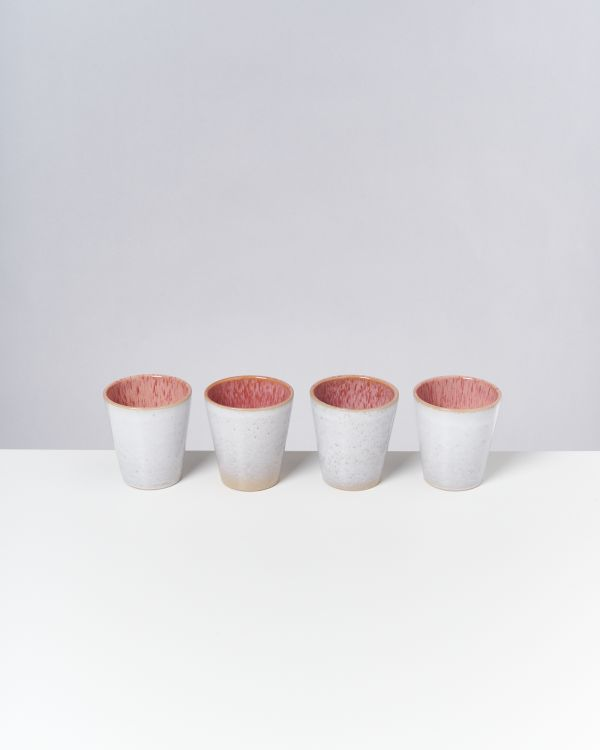 AREIA - Set of 4 Cups big pink