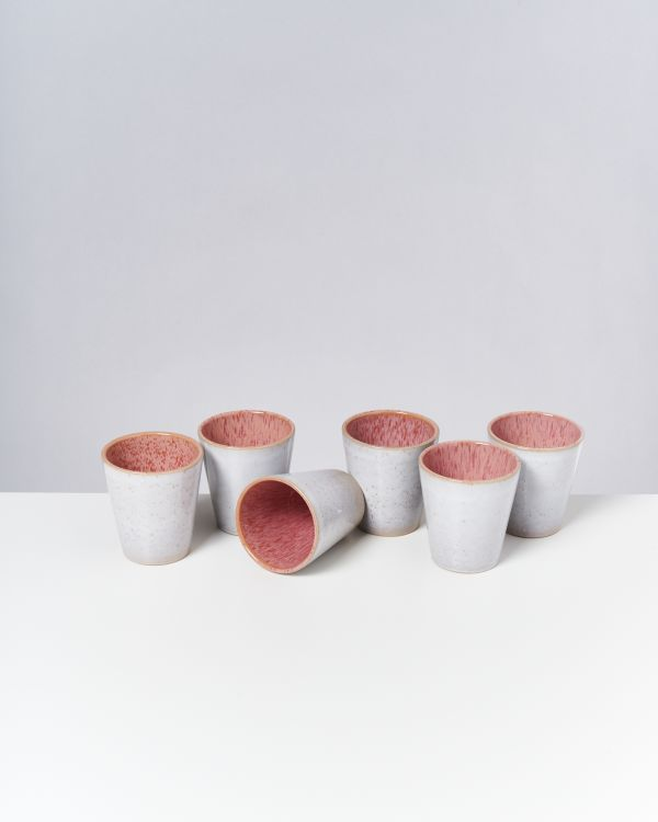 Areia - Set of 6 Cups big pink