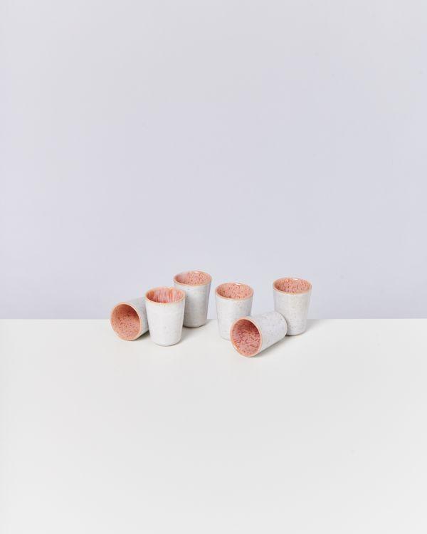 AREIA - Set of 6 Espressocups pink