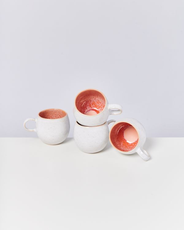 AREIA - Set of 4 Mugs big pink