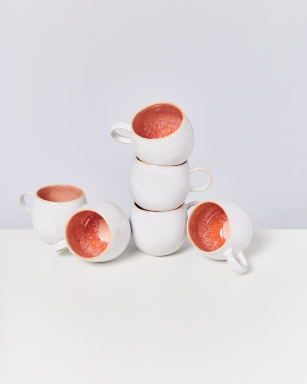 AREIA - Set of 6 Mugs big pink