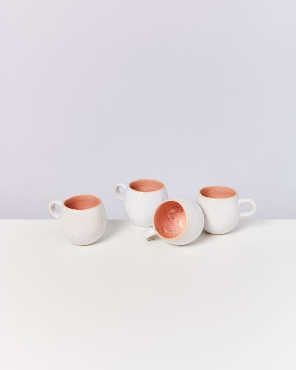 AREIA - Set of 4 Cups small pink