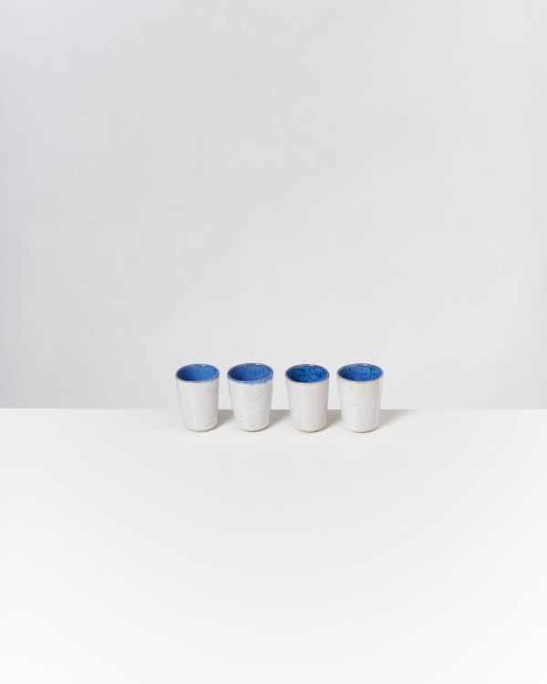 AREIA - Set of 4 Espressocups royal blue