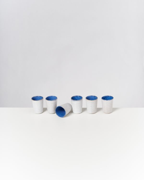 AREIA - Set of 6 Espressocups royal blue
