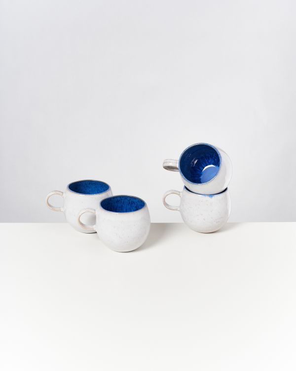 AREIA - Set of 4 Mugs big royal blue