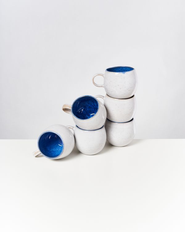 AREIA - Set of 6 Mugs big royal blue