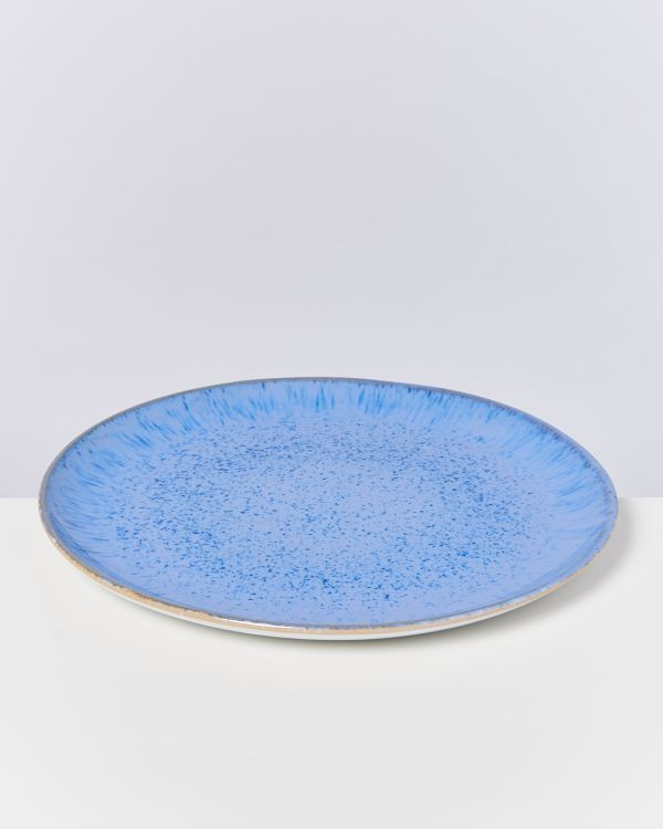AREIA - Plate large royal blue