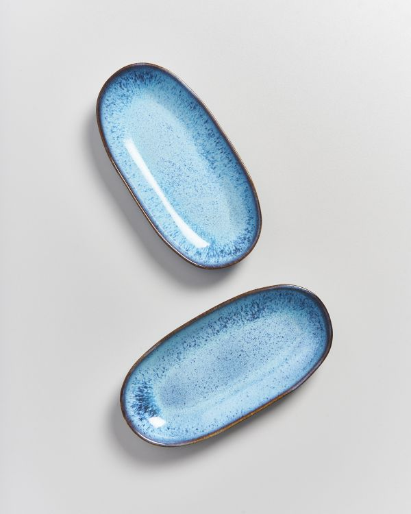AREIA - Serving Platter M teal