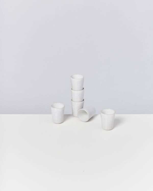 AREIA - Set of 6 Espressocups white