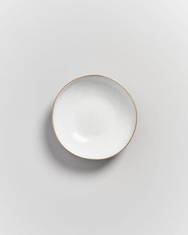AREIA - Mini plate white with gold rim