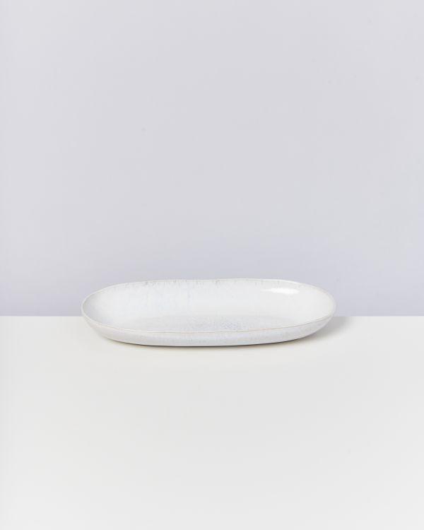 Areia Servierplatte L weiß