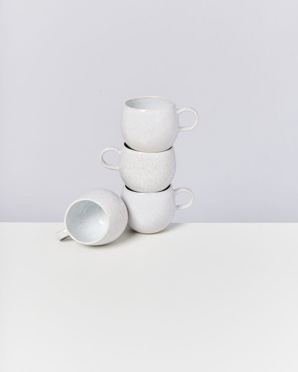 AREIA - Set of 4 Cups big white