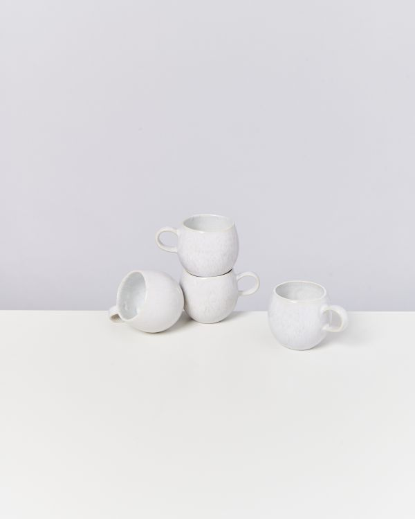 AREIA - Set of 4 Cups small white