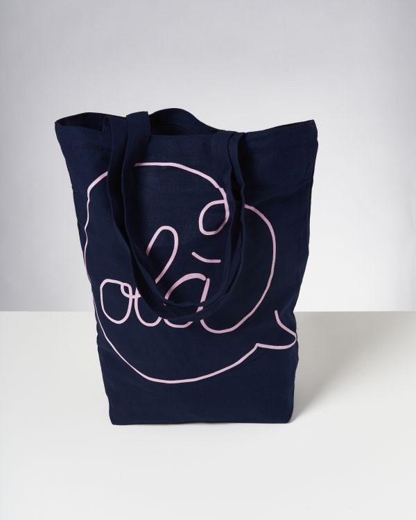 Beach Bag navy rose