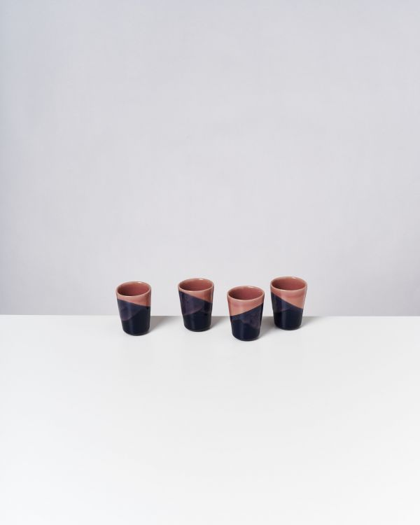 BICA - Set of 4 Espressocups pink navy