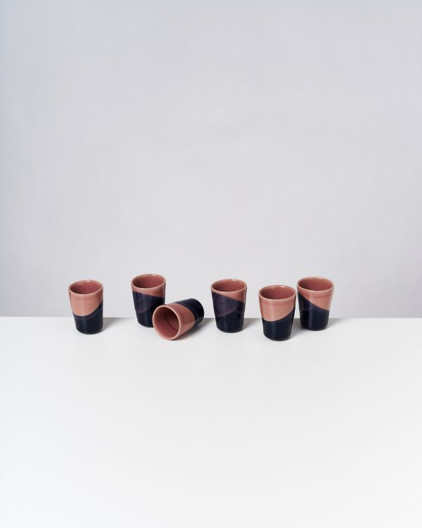 BICA - Set of 6 Espressocups pink navy