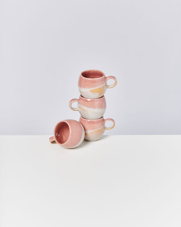 BICA - Set of 4 Cups small pink cream