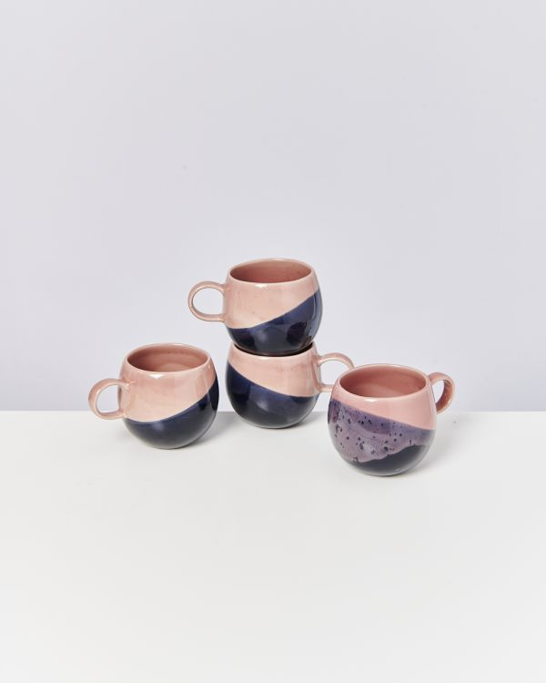 BICA - Set of 4 Cups big pink navy