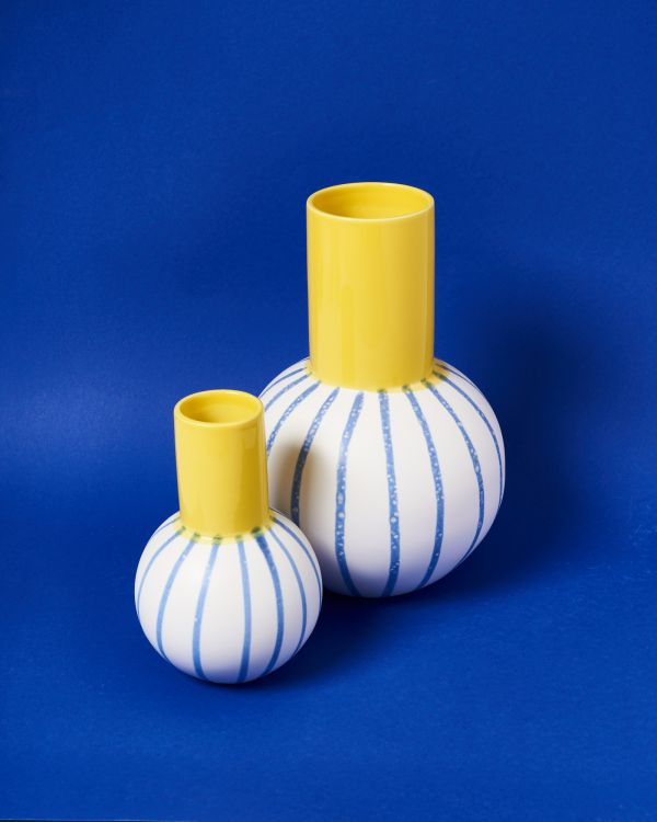 Bola L - yellow blue striped
