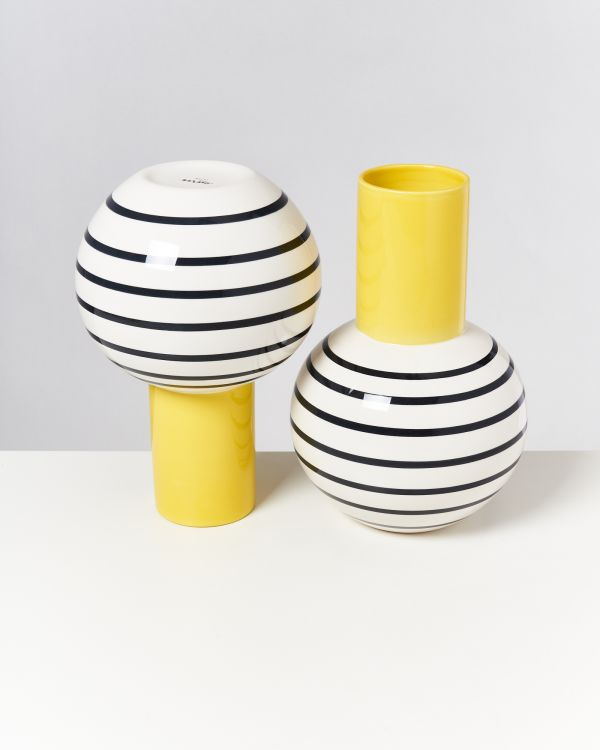 Bola L - yellow black striped