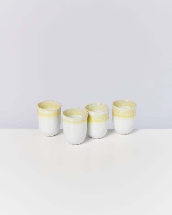 COPA ALTO - Set of 4 Cups big yellow