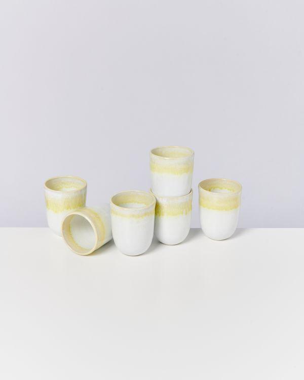 COPA ALTO - Set of 6 Cups big yellow