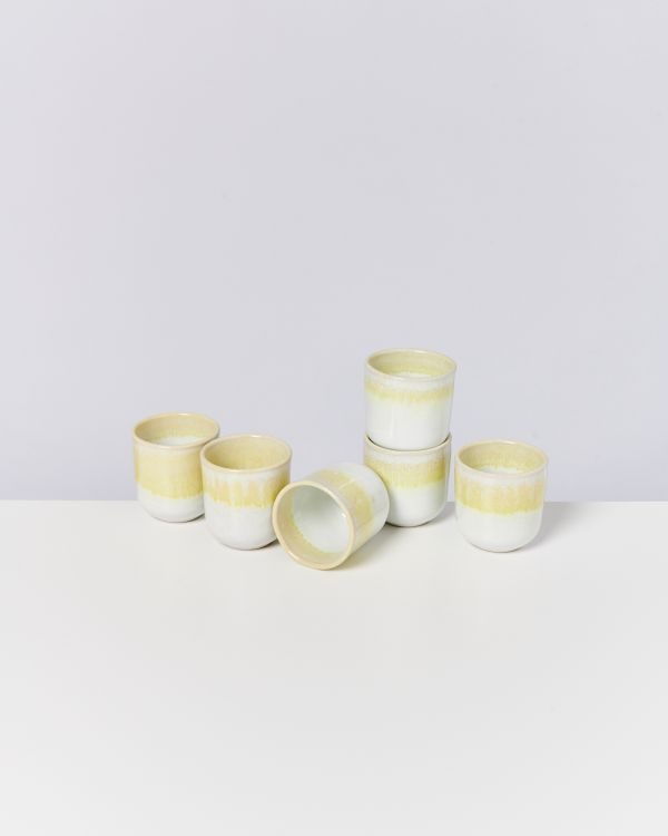 COPA ALTO - Set of 6 Cups small yellow