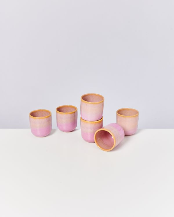 COPA ALTO - Set of 6 Cups small yellow rosé