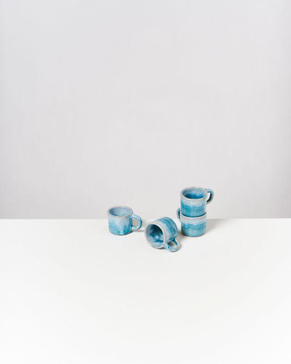 CORDOAMA - Set of 4 Espressomugs aqua