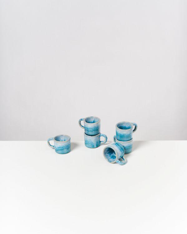 CORDOAMA - Set of 6 Espressomugs aqua