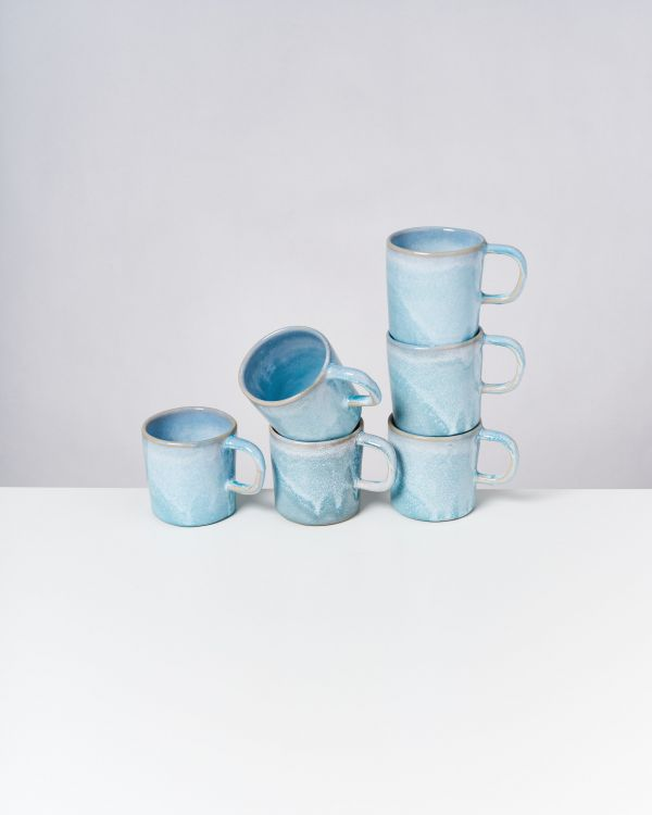 Cordoama - Set of 6 Mugs big aqua