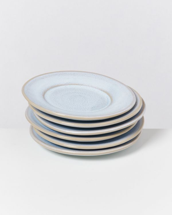 CORDOAMA - Set of 6 Saucers azure