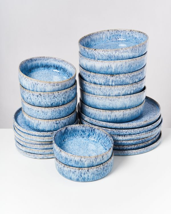 Cordoama - Set of 24 pieces blue speckled