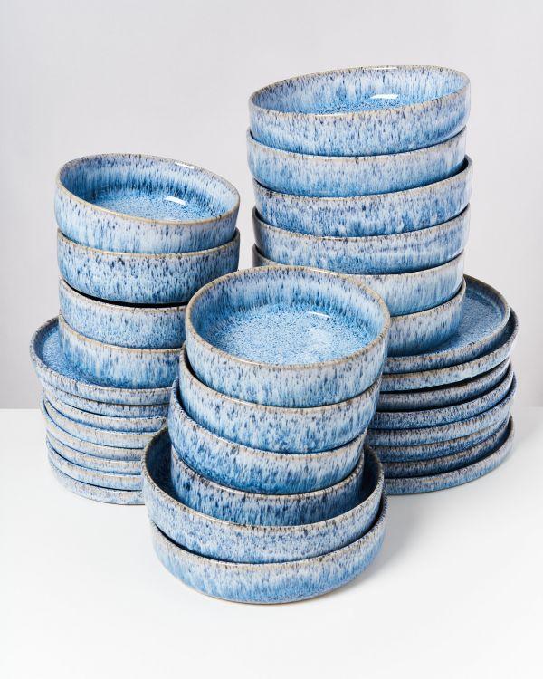 Cordoama blau gesprenkelt - 32 teiliges Set