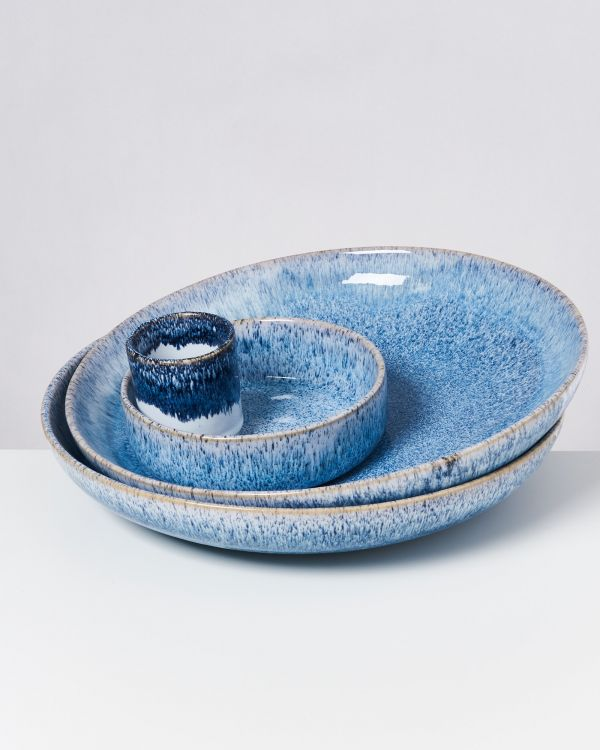 CORDOAMA - Servingbowl blue speckled